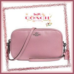 COACH Isla Pebble Leather Crossbody